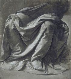 Leonardo Da Vinci, Drapery for a seated figure 1470 • love it