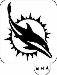 Miami Dolphins Logo Stencil