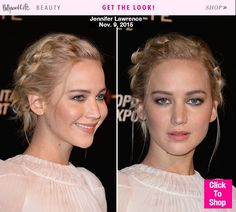 Jennifer Lawrence is on a promo marathon for 'The Hunger Games: Mockingjay Part 2,' and that means she's been pulling out more beauty looks than Kylie Jenner. For her latest look, Jen went with a boho braided updo and barely-there makeup.