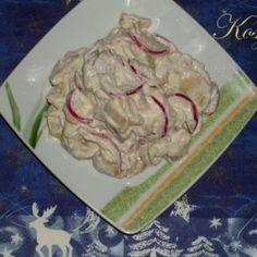 Ecetes-majonézes krumplisaláta Chicken, Food, Essen, Yemek, Buffalo Chicken, Cubs, Meals, Rooster