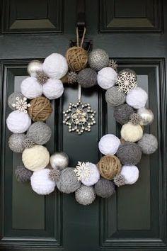 Φτιάξτε μόνοι σας χριστουγεννιάτικα στεφάνια για την είσοδο του σπιτιού + 20 ιδέες {Μέρος 1ο}! | Φτιάξτο μόνος σου - Κατασκευές DIY - Do it yourself