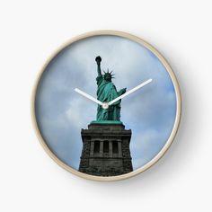 Modern Prints, Art Prints, Quartz Clock Mechanism, Hand Coloring, Statue Of Liberty, New York City, Printed, Awesome, Nature