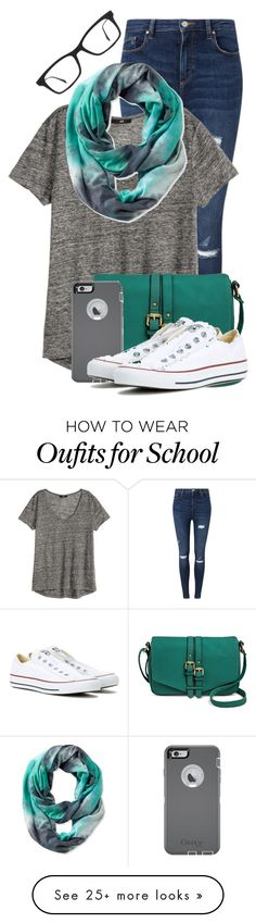 """When you WANT to go to school"" by newyearscutie on Polyvore featuring Miss Selfridge, Ray-Ban, Merona, OtterBox, Converse and Pistil"