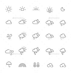 Buy Weather Icons by Leonidov on GraphicRiver. In Work Included: Henna Tattoos, Sharpie Tattoos, Henna Tattoo Designs, Line Tattoos, Small Tattoos, Rain Cloud Tattoos, Rain Tattoo, Storm Tattoo, Mini Drawings