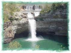 DeSoto Falls located in Mentone, Alabama which is the home of Alabama, the music group