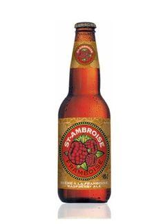 Cerveja St. Ambroise Raspberry Ale, estilo Fruit Beer, produzida por McAuslan Brewing, Canadá. 5% ABV de álcool.