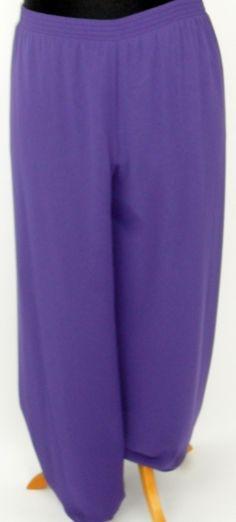 Kirsten Krog lilac chiffon trousers