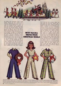 Betsy McCall writes from Christmas World....December 1973