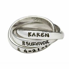 """Nelle and Lizzy has teamed up with Susan G. Komen of Tarrant County in the fight against breast cancer. 10% of the price of any Nelle & Lizzy jewelry item containing the word """"survivor"""" or the ribbon stamp will be donated to the Susan G. Komen Foundation of Tarrant County."""