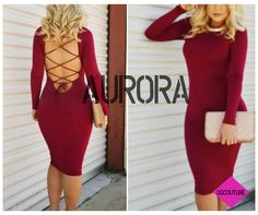 Meet Aurora. This sexy,form fitting dress will hug all your precious curves with the softest material. *Free Shipping* Shop now!