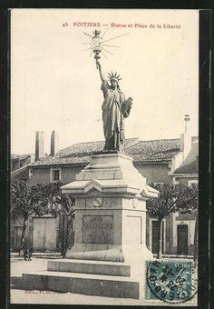 POITIERS - PLACE DE LA LIBERTE - Statue et Place de la Liberte - 1910