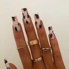 Nail Design Stiletto, Nail Design Glitter, Cute Acrylic Nail Designs, Bling Acrylic Nails, Aycrlic Nails, Best Acrylic Nails, Coffin Nails, Perfect Nails, Gorgeous Nails