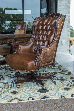 Oakley Alligator Executive Swivel   Brumbaugh's Fine Home Furnishings Home Office Furniture, Furniture Decor, Furniture Design, Renaissance Furniture, Home Room Design, Nailhead Trim, Sofa Set, Chair Design, Home Furnishings