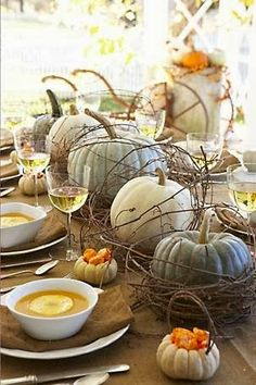 Fall Tablescapes ideas (from The Preppy Empty Nester blog)