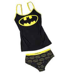 This Batman Ladies' Tank and Panty Set makes a great summer pajama ensemble so you can own the night. Or you can opt to wear it under your clothes, ala Clark Kent. Batman Outfits, Summer Pajamas, Comic Con Cosplay, Pajama Set, Trendy Outfits, Clothes For Women, My Style, Lady, Casual