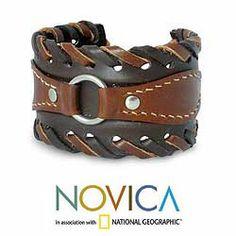 Leather 'Western' Cuff Bracelet (Thailand)