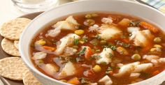 Quick Gluten Free Seafood Soup | Gorton's Seafood gluten-free dairy-free easy soup celiac.org