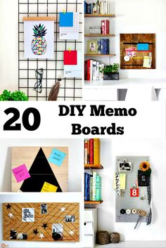 A collection of DIY Memo board ideas. Make your own memo board using belts, embroidery hoops and other creative memo board supplies.
