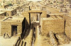 The cities of Harappa and Mohenjo-Daro in the Indus Valley. A sophisticated and technologically advanced urban culture is evident and the quality of municipal town planning suggests knowledge of urban planning and efficient municipal governments that placed a high priority on hygiene. The streets of major cities such as Mohenjo-daro or Harappa were laid out in perfect grid patterns.