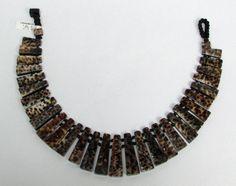 """VIKTORIA HAYMAN AMPHIBIAN SHELL DESIGN 21"""" STATEMENT NECKLACE NWT #viktoriahayman #statementnecklace #costumejewelry #amphbianshelldesign #viktoriahaymannecklace"""
