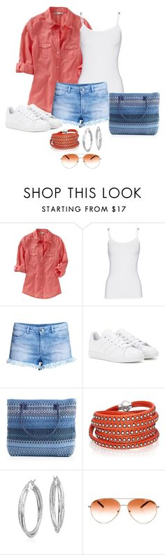 """""""Untitled #1044"""" by gallant81 ❤ liked on Polyvore featuring Old Navy, Splendid, H&M, adidas, Sif Jakobs Jewellery, Blue Nile and Prada"""