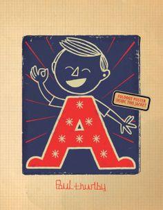 Paul Thurlby's Alphabet as a book or wall art.