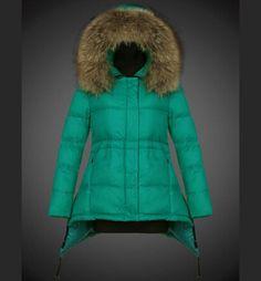 c533386e156 Nouveaux Manteau Moncler Femme Doudoune Pyrenex Capuche Fourrure Vert  boutique Manteau Moncler