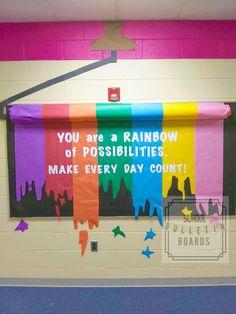 Rainbow Bulletin Boards, Hallway Bulletin Boards, Counseling Bulletin Boards, Elementary Bulletin Boards, Summer Bulletin Boards, Teacher Bulletin Boards, Reading Bulletin Boards, Back To School Bulletin Boards, Preschool Bulletin Boards