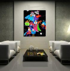 Galleri Happycolours - malerier, man bliver glad i låget af og som jeg selv er så heldig, at være ejer af ét skønt maleri derfra :D