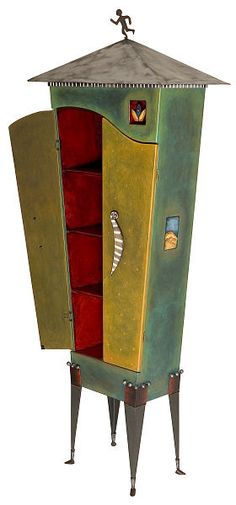 """Ironman"" Cabinet by Avner Zabari. Looks like Folk Art - has a lot of character!"