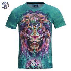 Men 3d t colorful , street wear t-shirt-free shipping