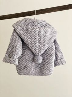 Baby Knitting Patterns Ravelry Ravelry: Baby jacket with hood pattern by Pia Trans Baby Knitting Patterns, Baby Cardigan Knitting Pattern, Knitting For Kids, Baby Patterns, Knitting Baby Girl, Hood Pattern, Jacket Pattern, Baby Barn, Baby Pullover