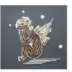 Crying angel Quilling
