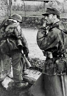 German soldiers during houses fighting in Aachen, Germany, October 1944.