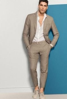 Mens fashion summer - Jacket Tailor 2 Piece Jacket and Pants Mens Fashion Blog, Mens Fashion Suits, Mens Suits, Men's Fashion, Suit For Men, Groom Suits, Groom Wear, Fashion Shirts, Fashion Photo