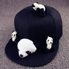 SHARE & Get it FREE | Stylish Cartoon Pandas Shape Toy Embellished Cute Black Baseball CapFor Fashion Lovers only:80,000+ Items·FREE SHIPPING Join Dresslily: Get YOUR $50 NOW!
