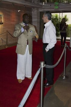 We don't stand around the water cooler we mingle on the red carpet!