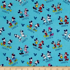 Disney Mickey & Minnie Vintage Mickey and Minnie Toss Red from @fabricdotcom  Designed by Disney and licensed to Springs Creative Products, this cotton print fabric is perfect for quilting, apparel and home decor accents. Due to licensing restrictions, this item can only be shipped to USA, Puerto Rico, and Canada. Colors include shades of blue, brown, grey, red, pink, yellow, natural and white.
