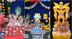 Essa festinha ficou incrível .Com o tema Transformers, o desafio era criar uma   decoração colorida e alegre , pois os dois irmãos an...