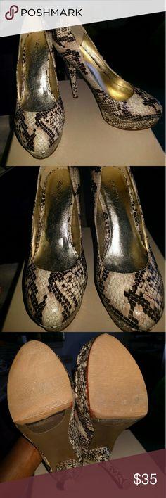 Zigi Soho shoes platform python pumps Zigi Soho shoes platform python pumps  Excellent condition.. Worn only a few times Zigi Soho Shoes Platforms