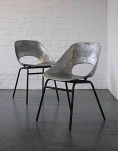tonneau cast aluminum chairs by pierre guariche pinterest 椅子