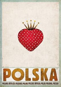 Polska Truskawka, plakat promocyjny, Ryszard Kaja