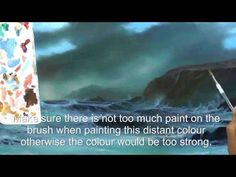 HOW TO PAINT THE SEA IN OILS .STORMY COVE PART SIX, BY ALAN KINGWELL - YouTube