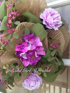 Spring/Summer Burlap Wreath  on Etsy, $62.99