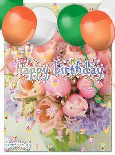 Happy Birthday Gif Images, Happy Birthday Flowers Wishes, Animated Happy Birthday Wishes, Happy Birthday Greetings Friends, Birthday Blessings, Birthday Wishes Cards, Happy Birthday Messages, Birthday Greeting Cards, Birthday Gifs