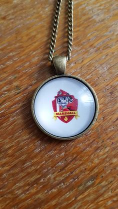 Marshall Paw Patrol Necklace by AwesomeOddities on Etsy