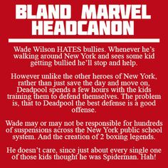Bland Marvel Headcanons // HOW IS THIS BLAND?!?!?!!!! THIS IS AWESOME!!!!!!!!!