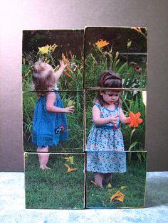 picture puzzle blocks... great idea