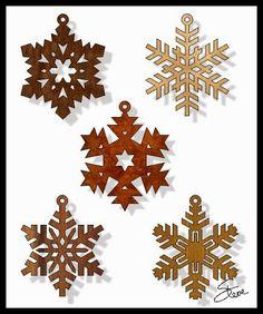 Scrollsaw Workshop: Snowflake Christmas Ornament Scroll Saw Patterns.