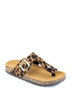 50b66a867 One Faith Boutique - Birkenstock Style Flip Flops ~ Leopard
